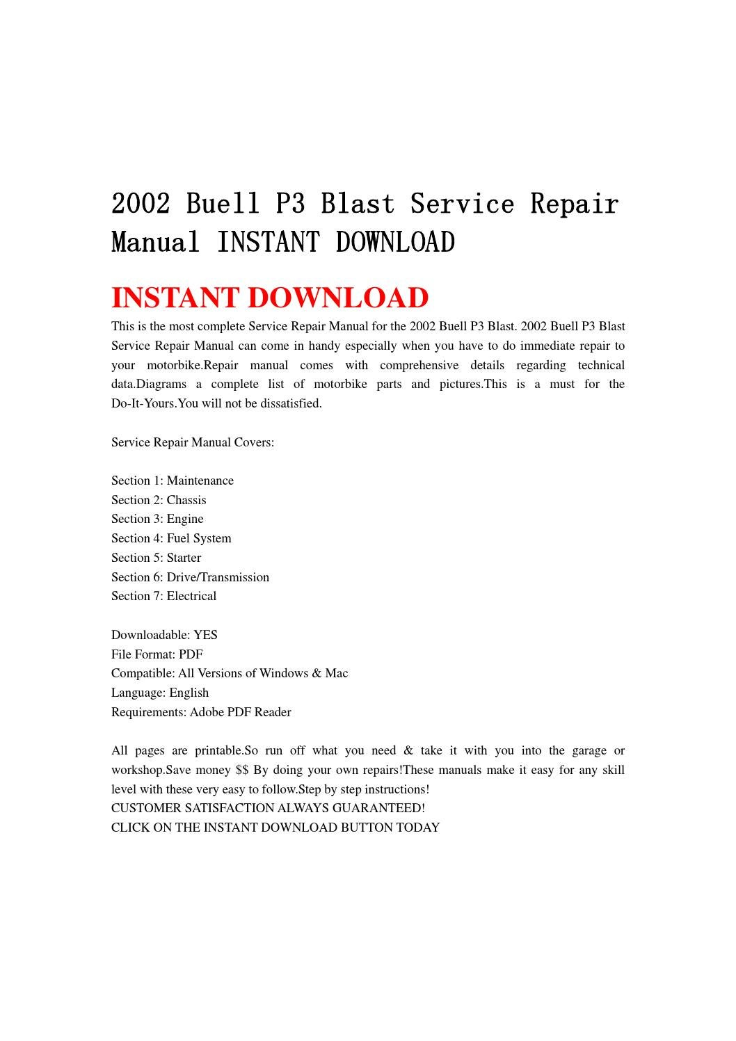 2002 buell p3 blast service repair manual instant download by jshenfnne -  issuu