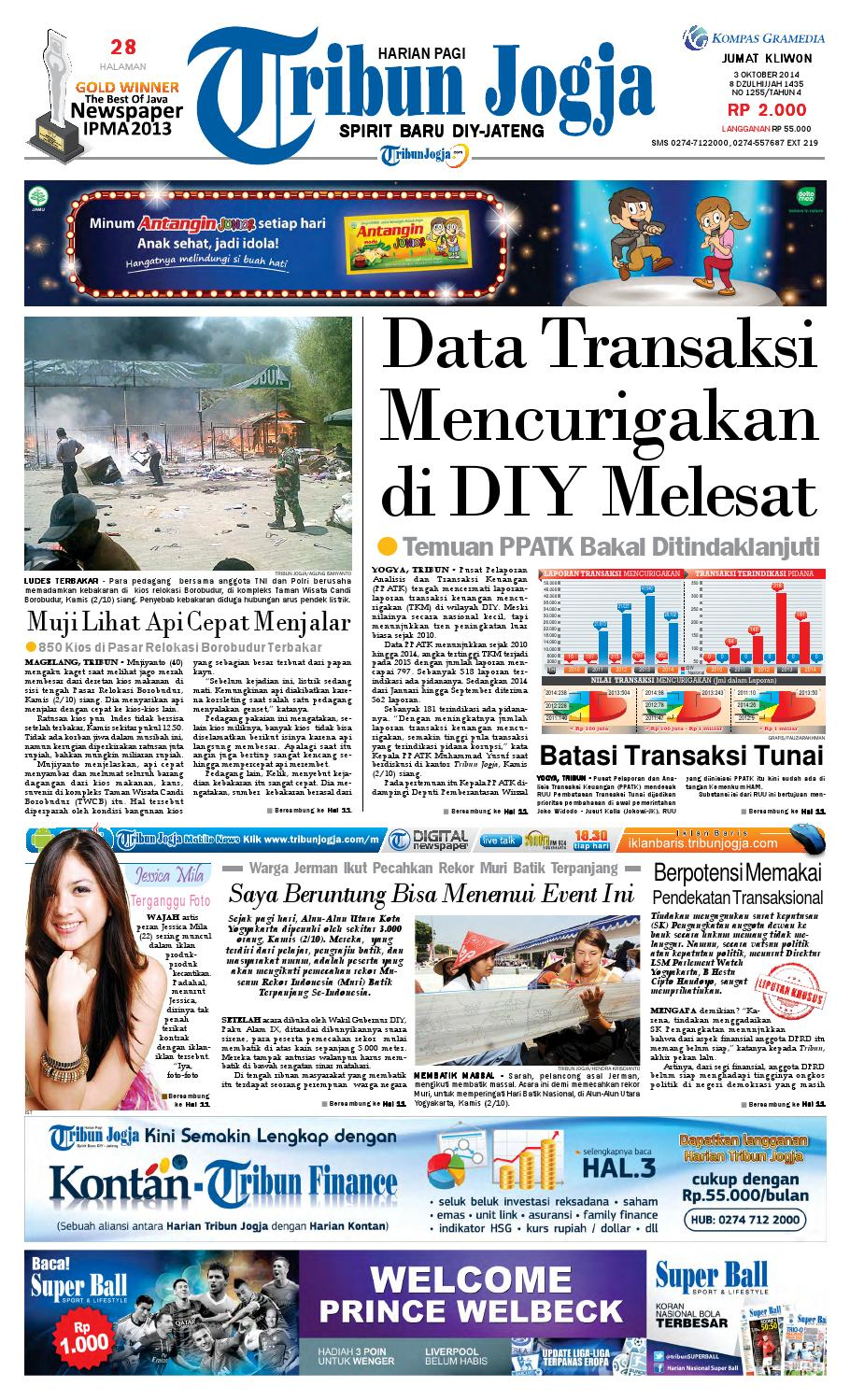 Tribunjogja 03 10 2014 By Tribun Jogja Issuu Produk Ukm Bumn Permen Tape Ladida