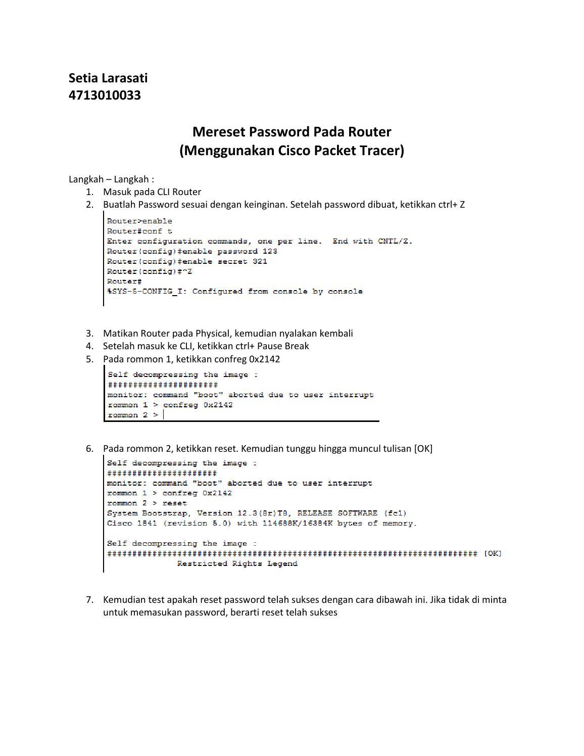 Reset password pada router by Setia Larasati - issuu