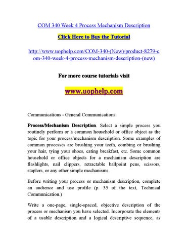 objective description of a technical object