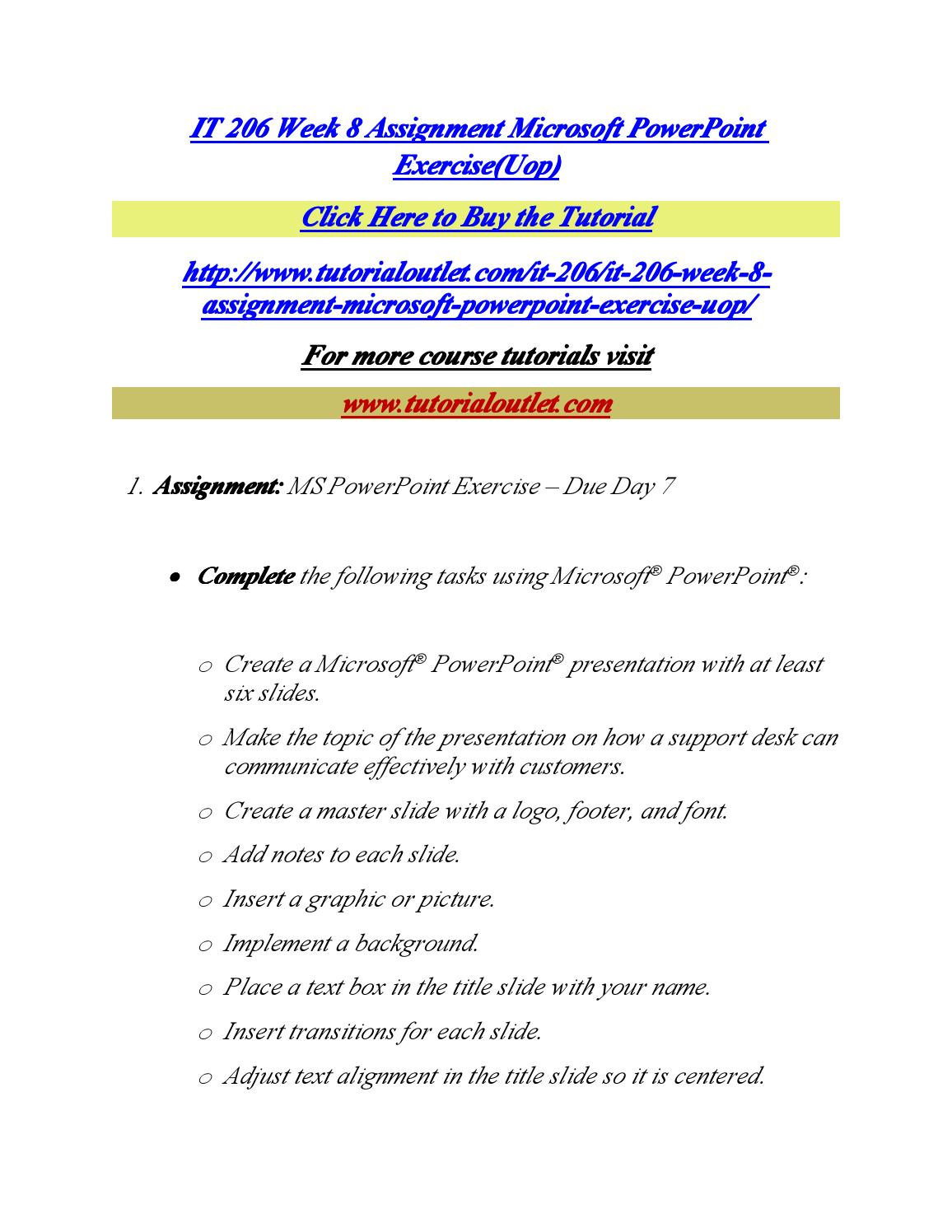 It 206 week 8 assignment microsoft powerpoint exercise by andrella it 206 week 8 assignment microsoft powerpoint exercise by andrella issuu baditri Image collections