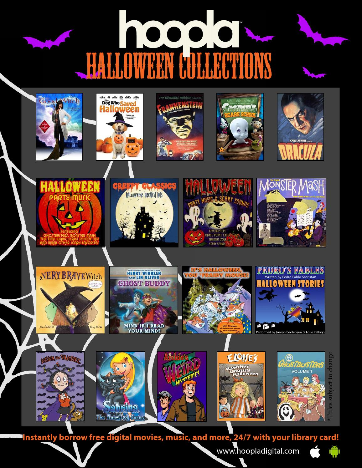 Halloween's Here On hoopla! Download the In-branch Flyer Today ...