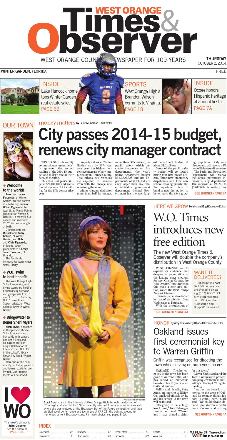 10 02 14 west orange times u0026 observer by orange observer issuu