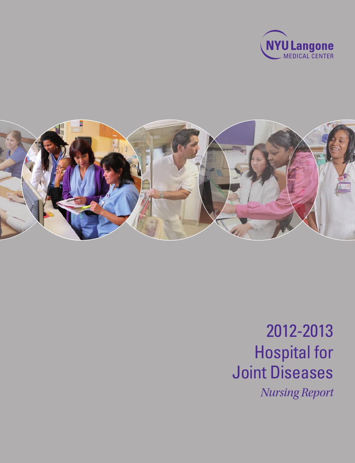 NYU Langone -- Hospital for Joint Diseases Nursing Report by