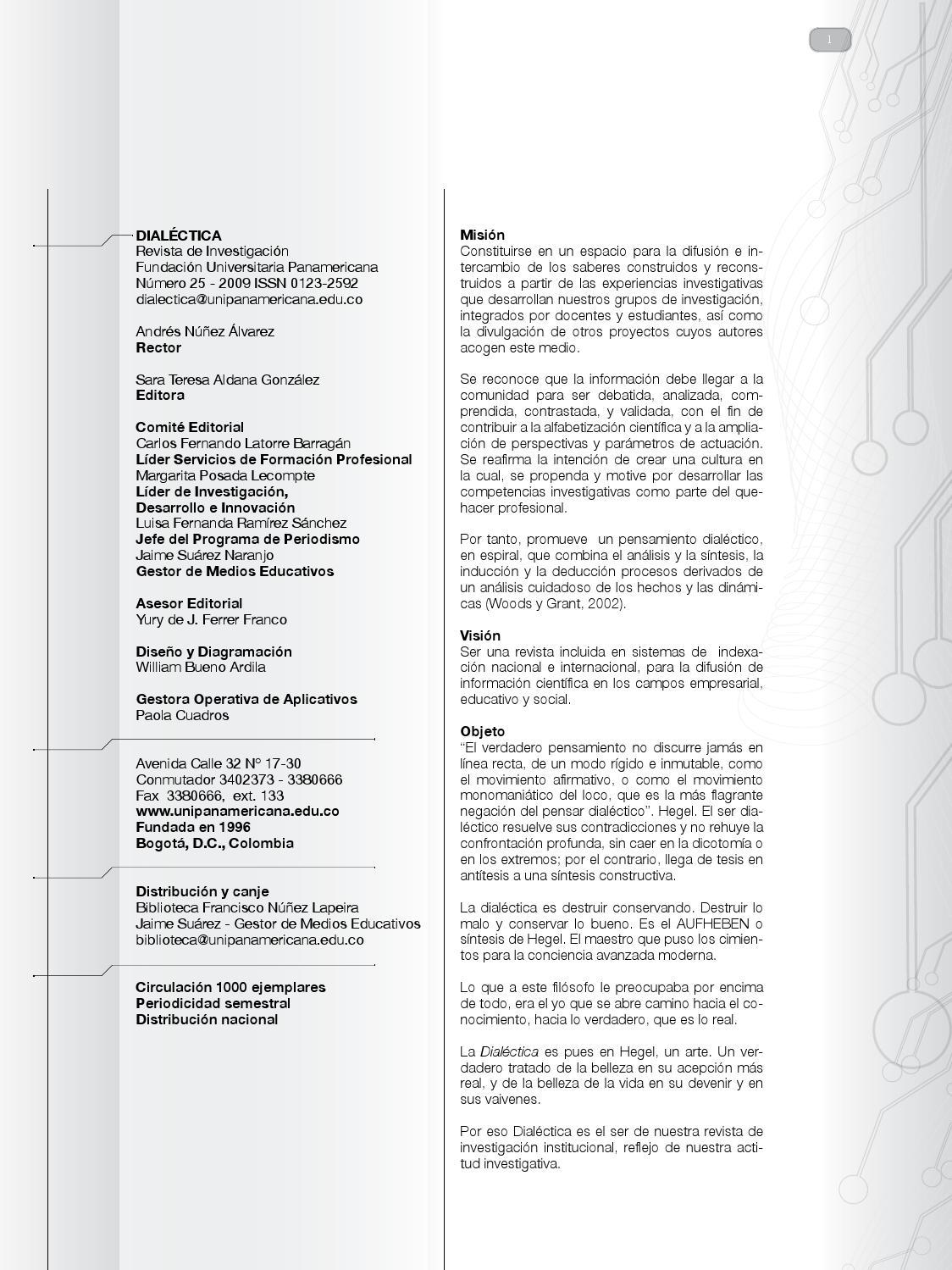 Revista 25 by Revista dialéctica - issuu