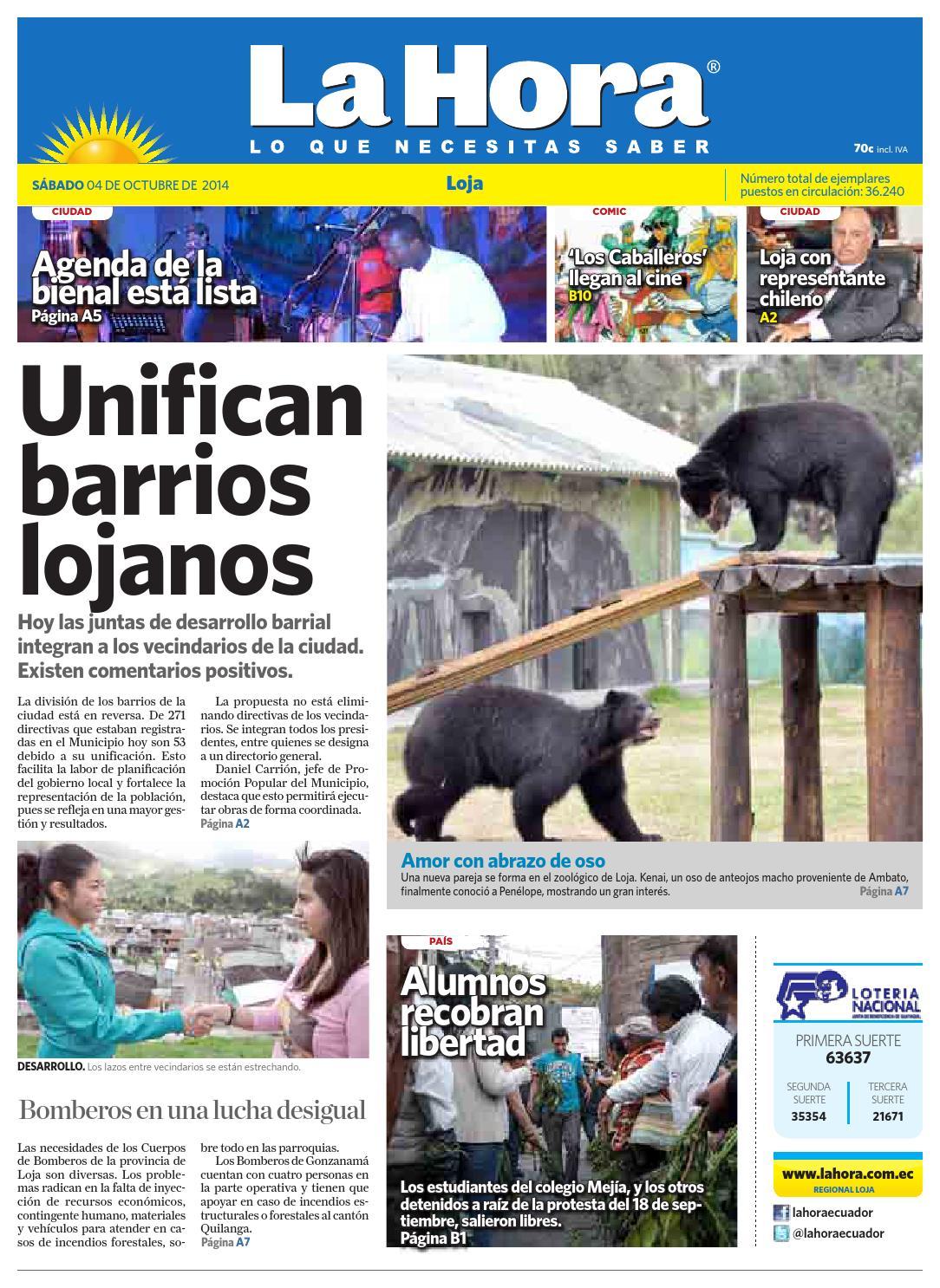 Diario La Hora Loja 04 de Octubre 2014 by Diario La Hora Ecuador - issuu