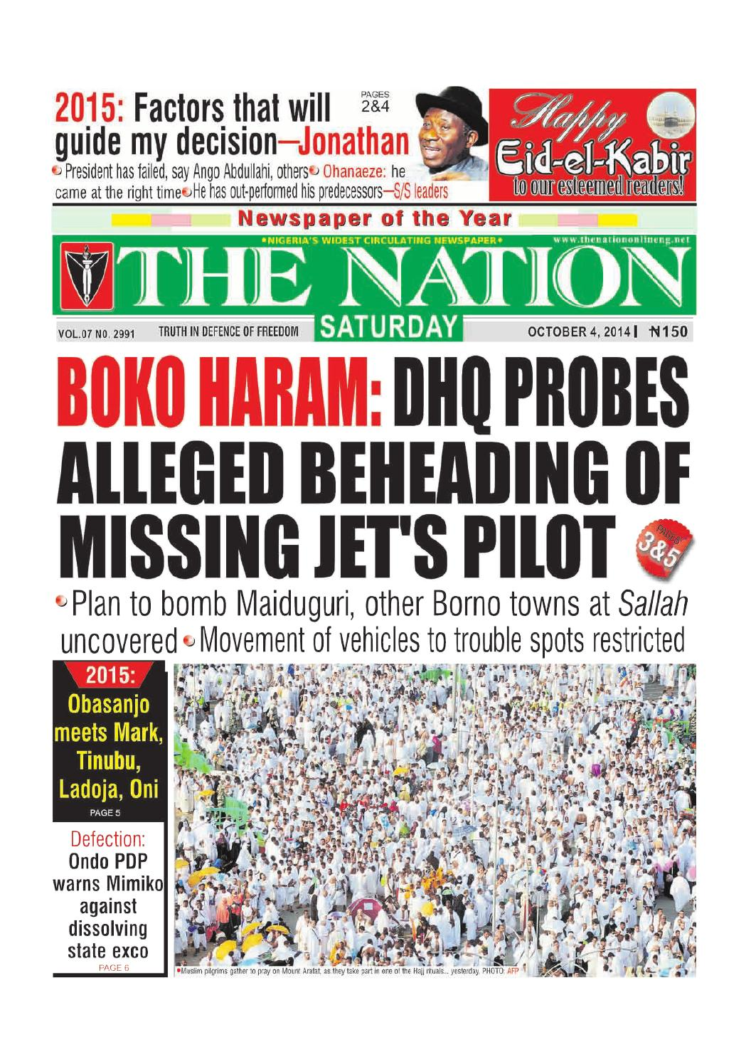 The Nation October 04 2014 By The Nation Issuu