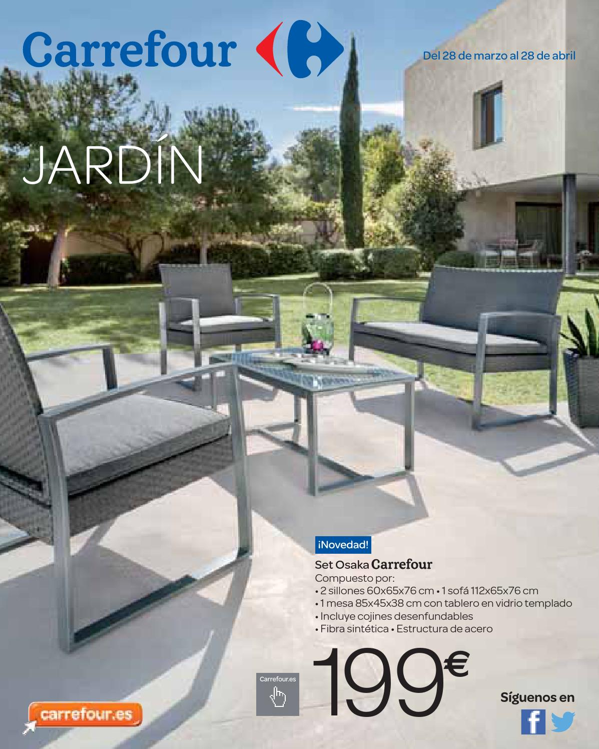 Carrefour jard n by andr gon alves issuu for Mobiliario de jardin ofertas