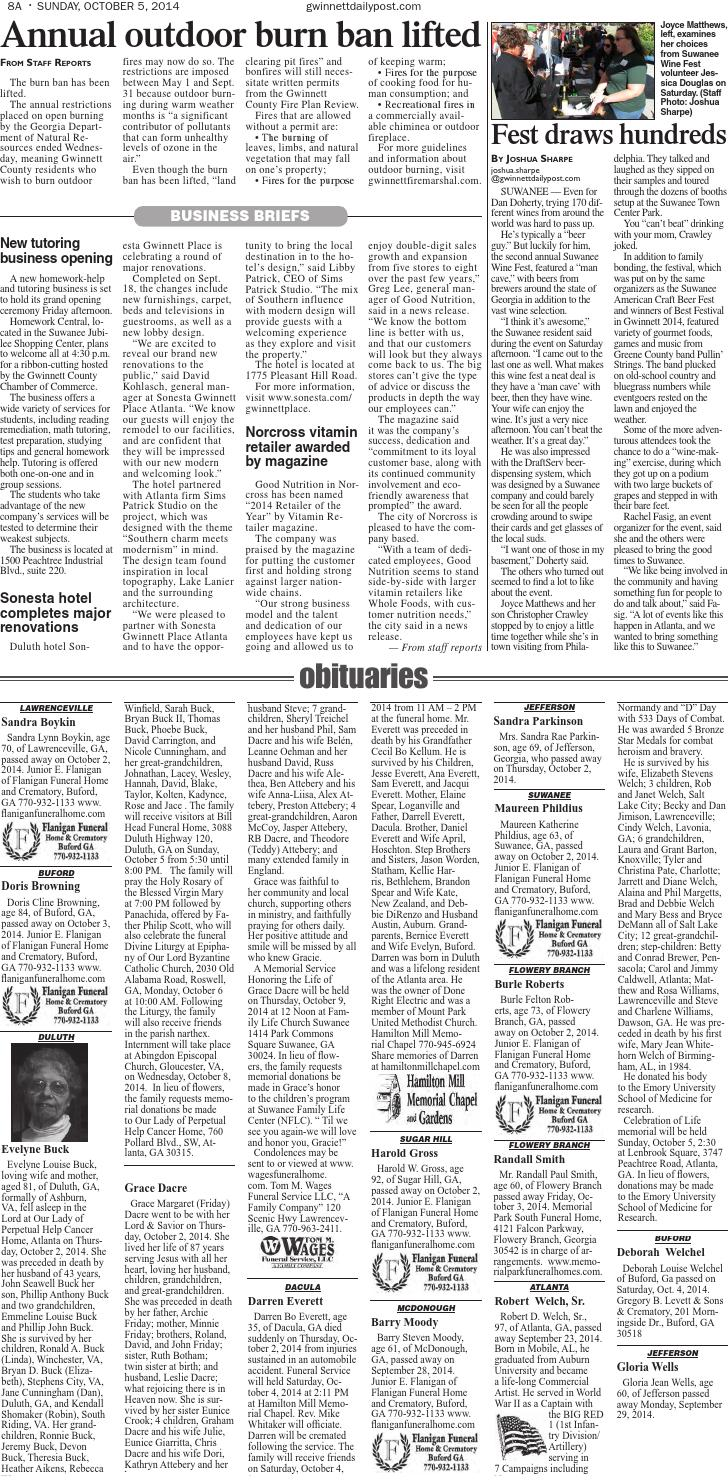 Gwinnett Daily Post — Oct  5, 2014 by Gwinnett Daily Post