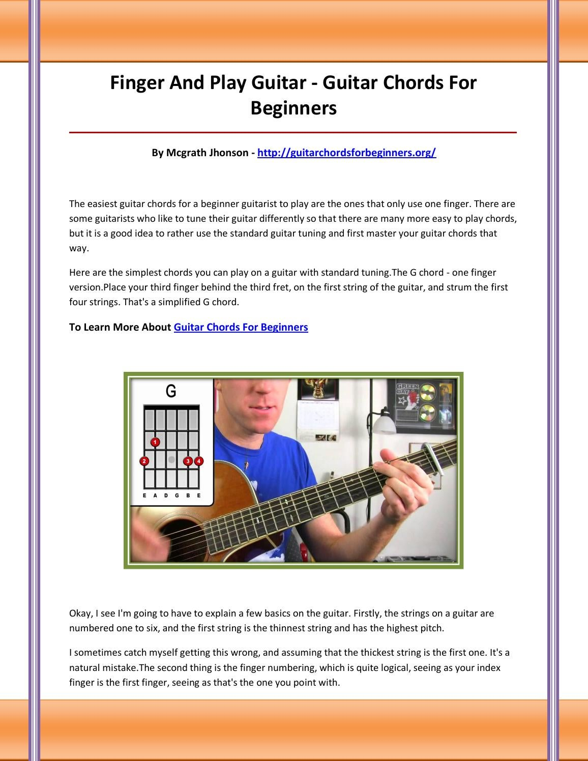 Guitar Chords For Beginners By Bcgvfbcgdfcvdfc Issuu