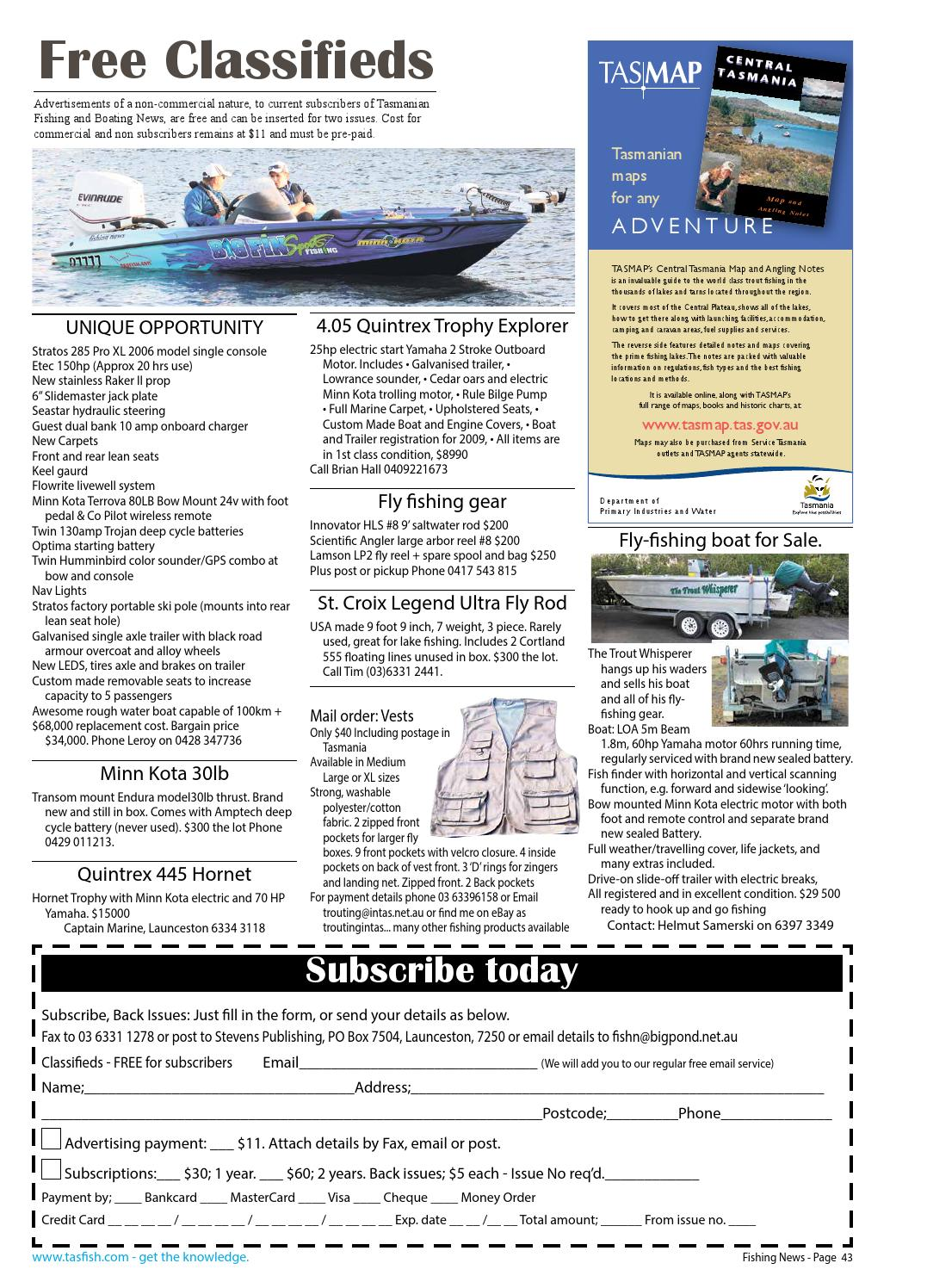 Tasmanian Fishing and Boating News Issue 081 2009 August by