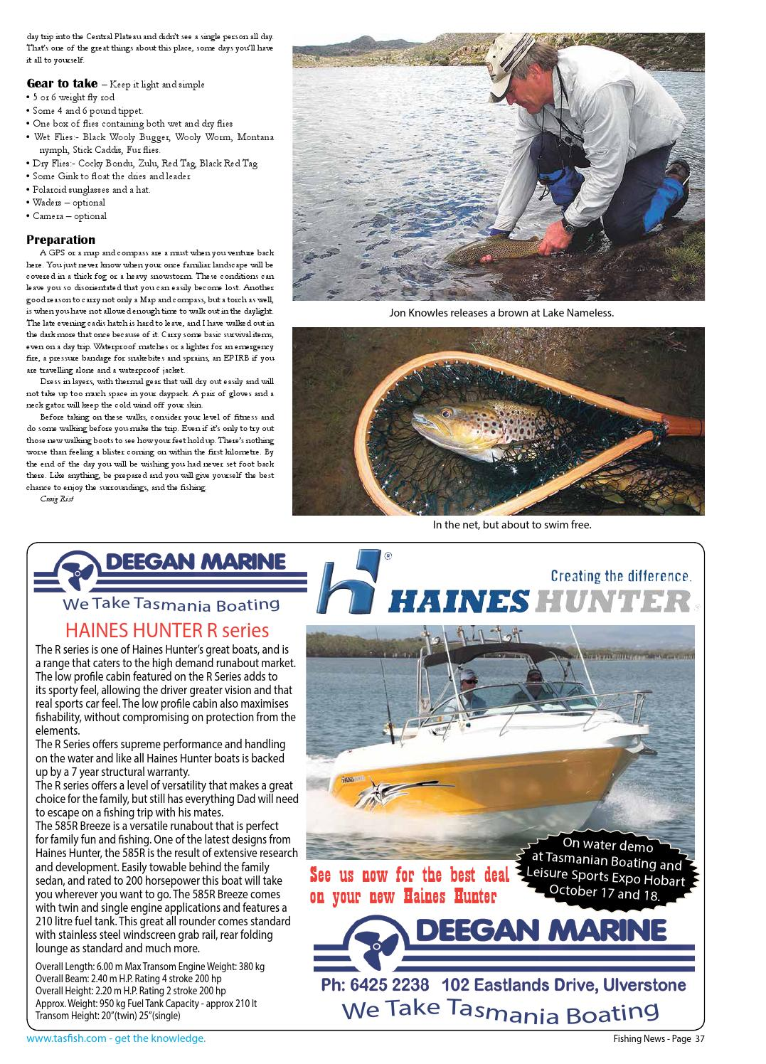 Tasmanian Fishing and Boating News Issue 082 2009 October by