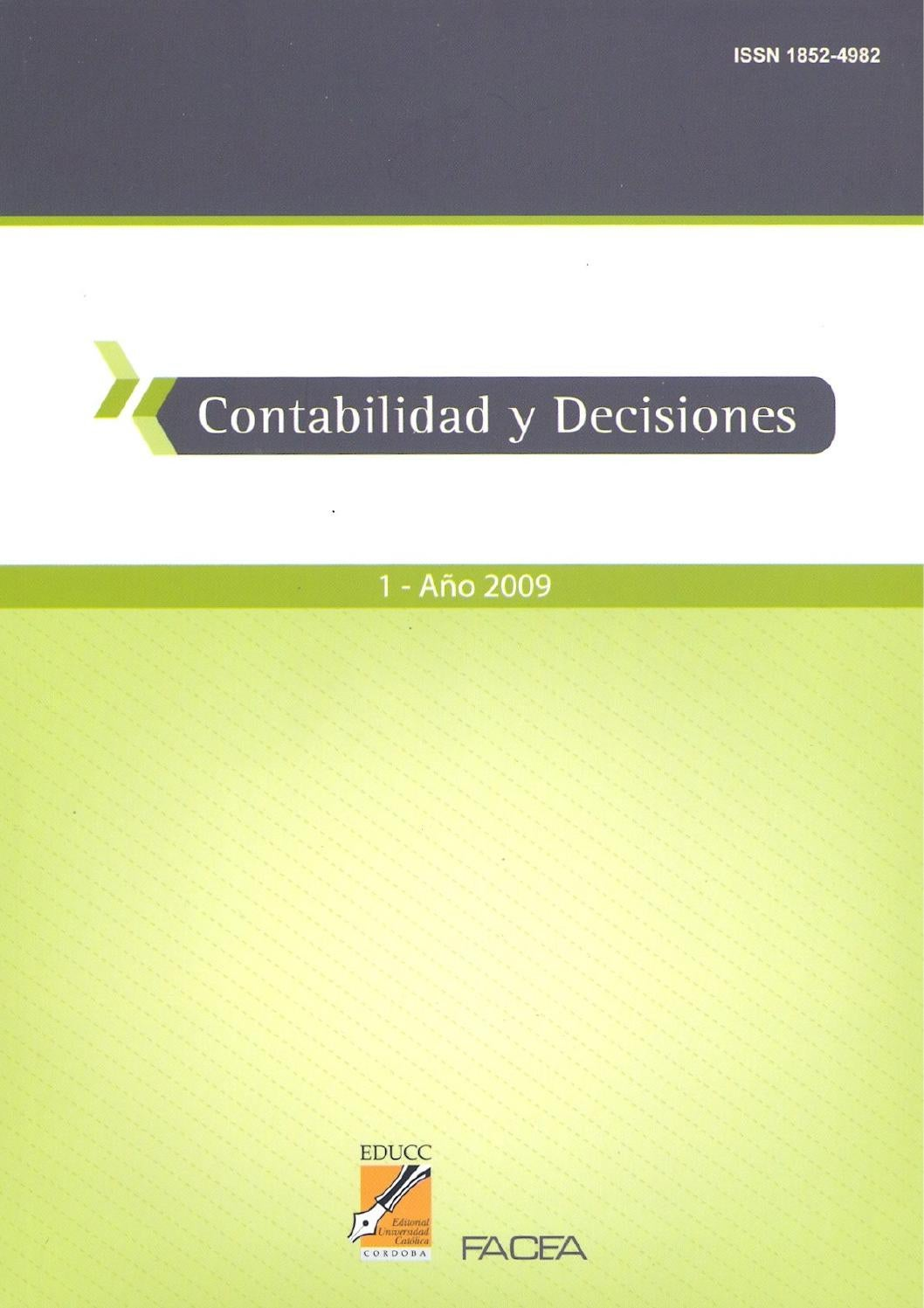 Contabilidad y Decisiones Nro. 1 by contabilidad.decisiones - issuu