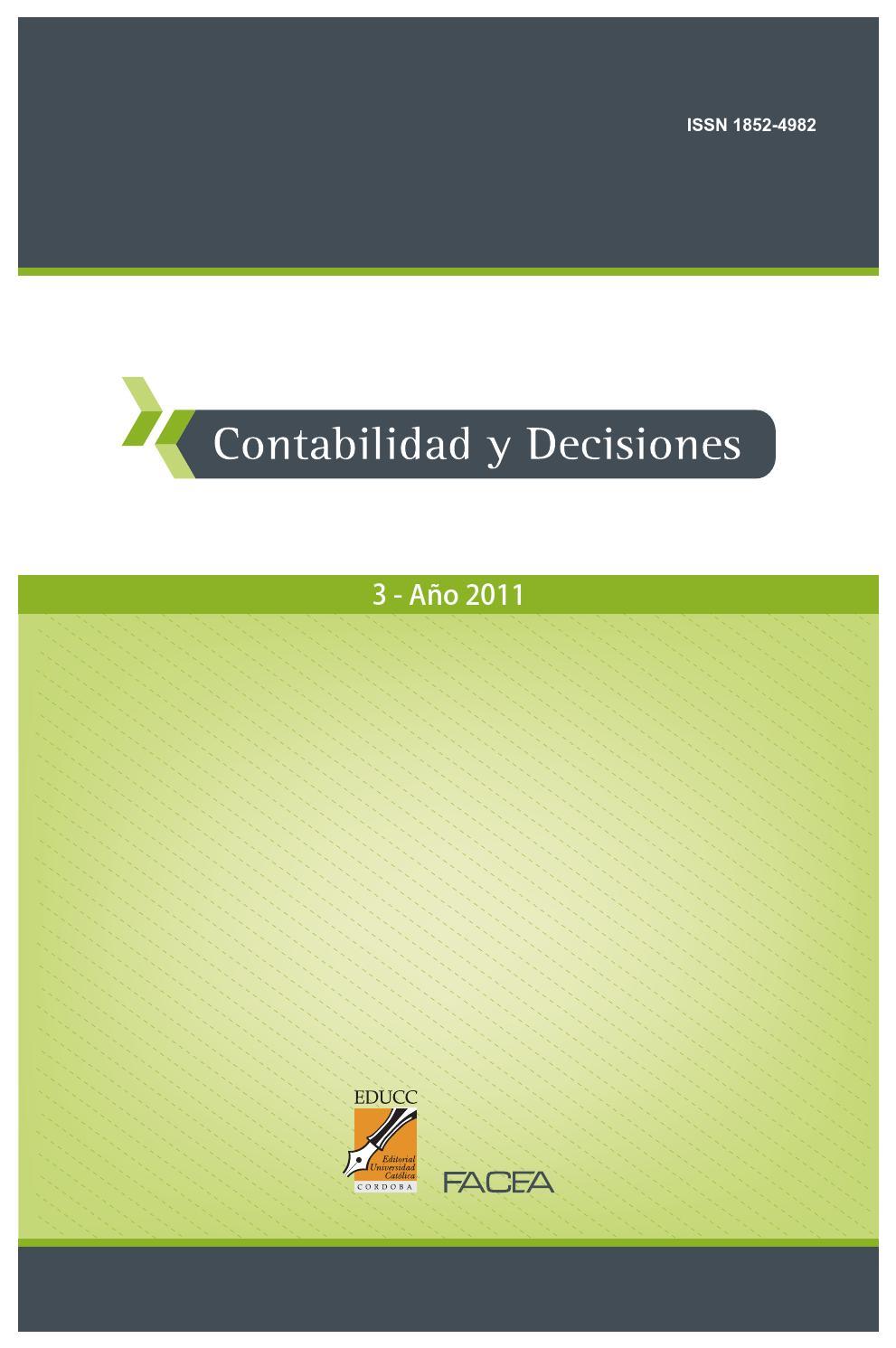 Contabilidad y Decisiones Nro. 3 by contabilidad.decisiones - issuu