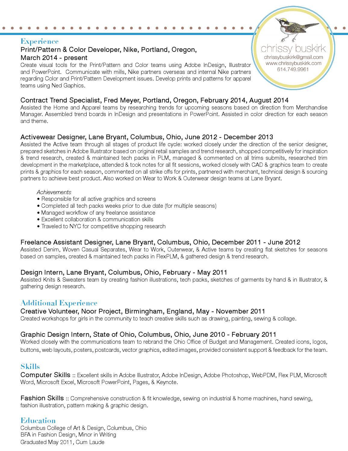 Chrissy Buskirk Resume By Chrissy B Issuu