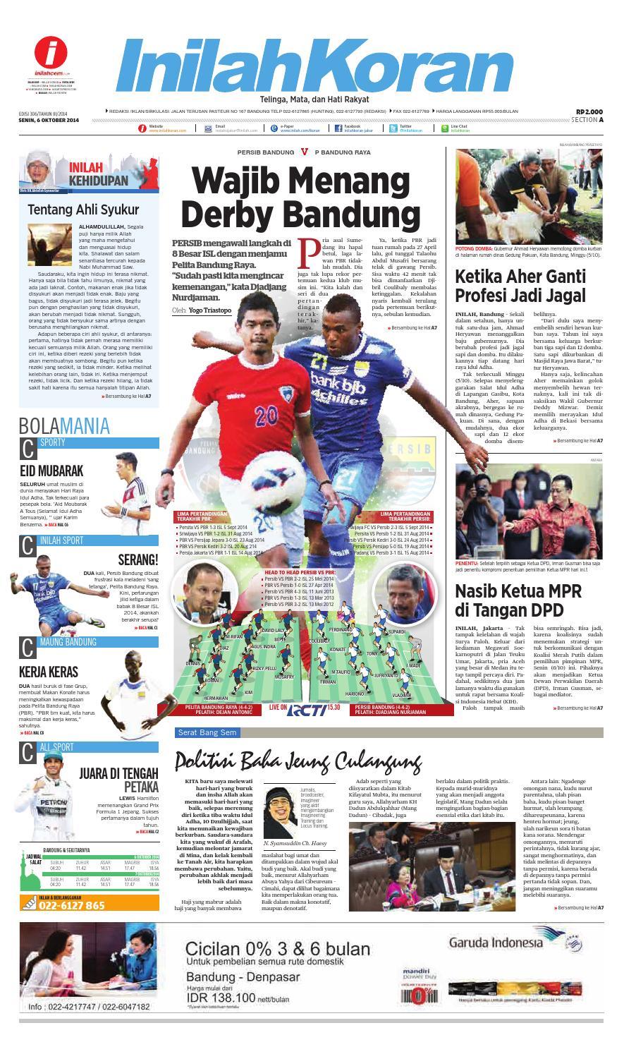 Wajib Menang Derby Bandung By Inilah Koran Issuu Produk Ukm Bumn Bahan Songket Sulam Katun Merah