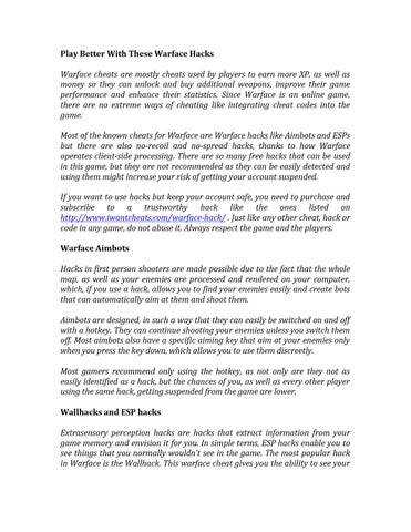 Warface hack by iwantcheats - issuu