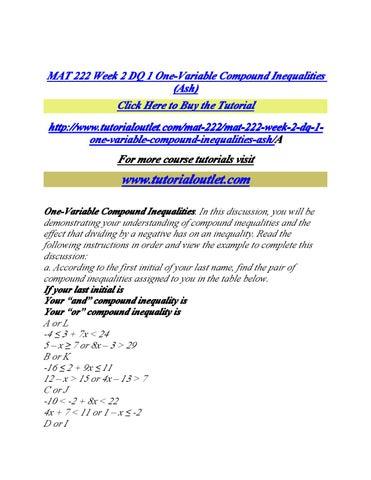 Mat117 Week 7 Dq 2 Coursework Sample
