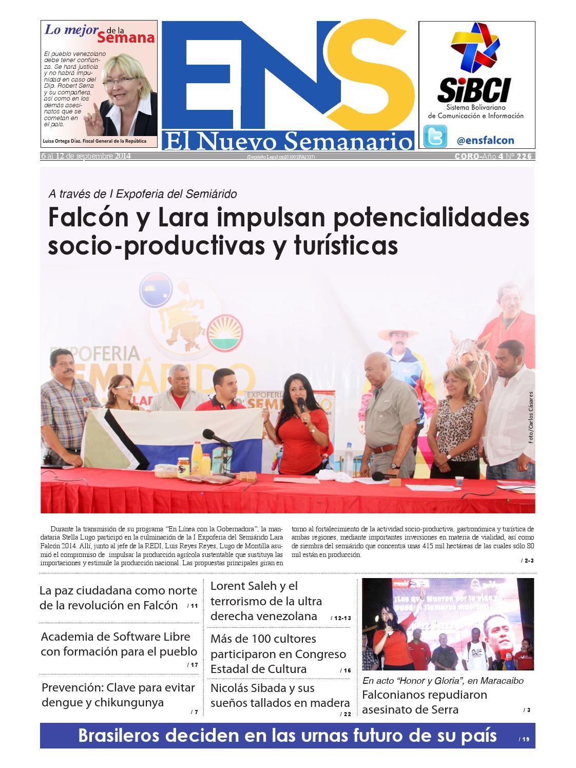 Edicion 226 by Ediciones del Nuevo Semanario Somos Falcón - issuu