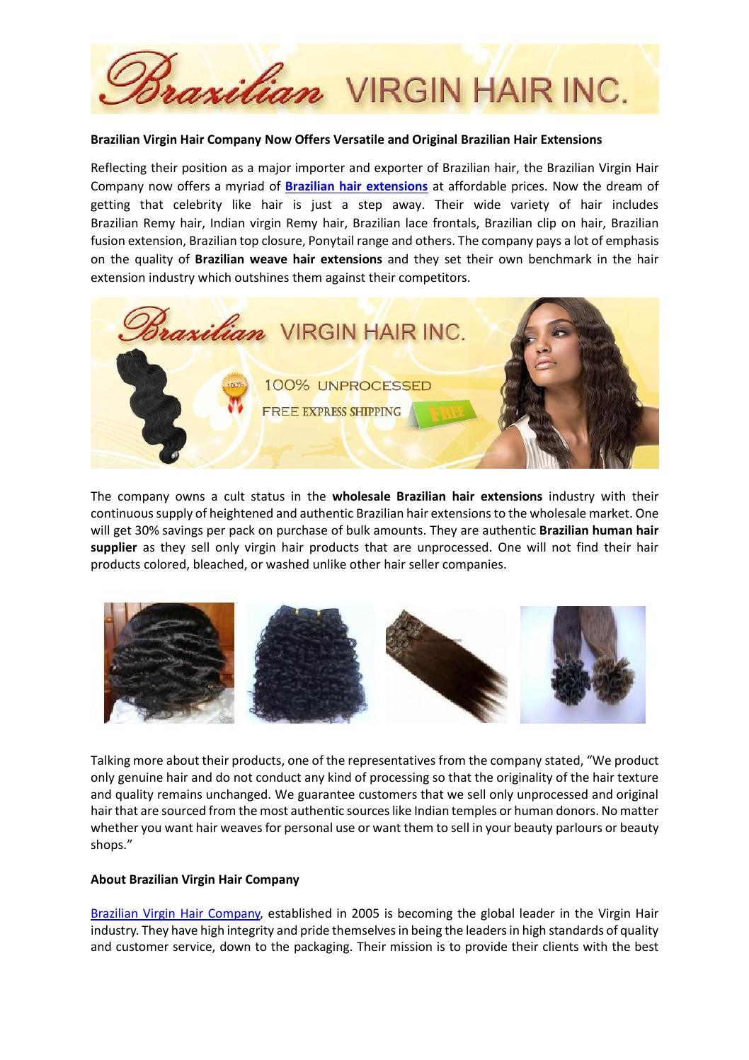 Brazilian Virgin Hair Company Now Offers Versatile And Original