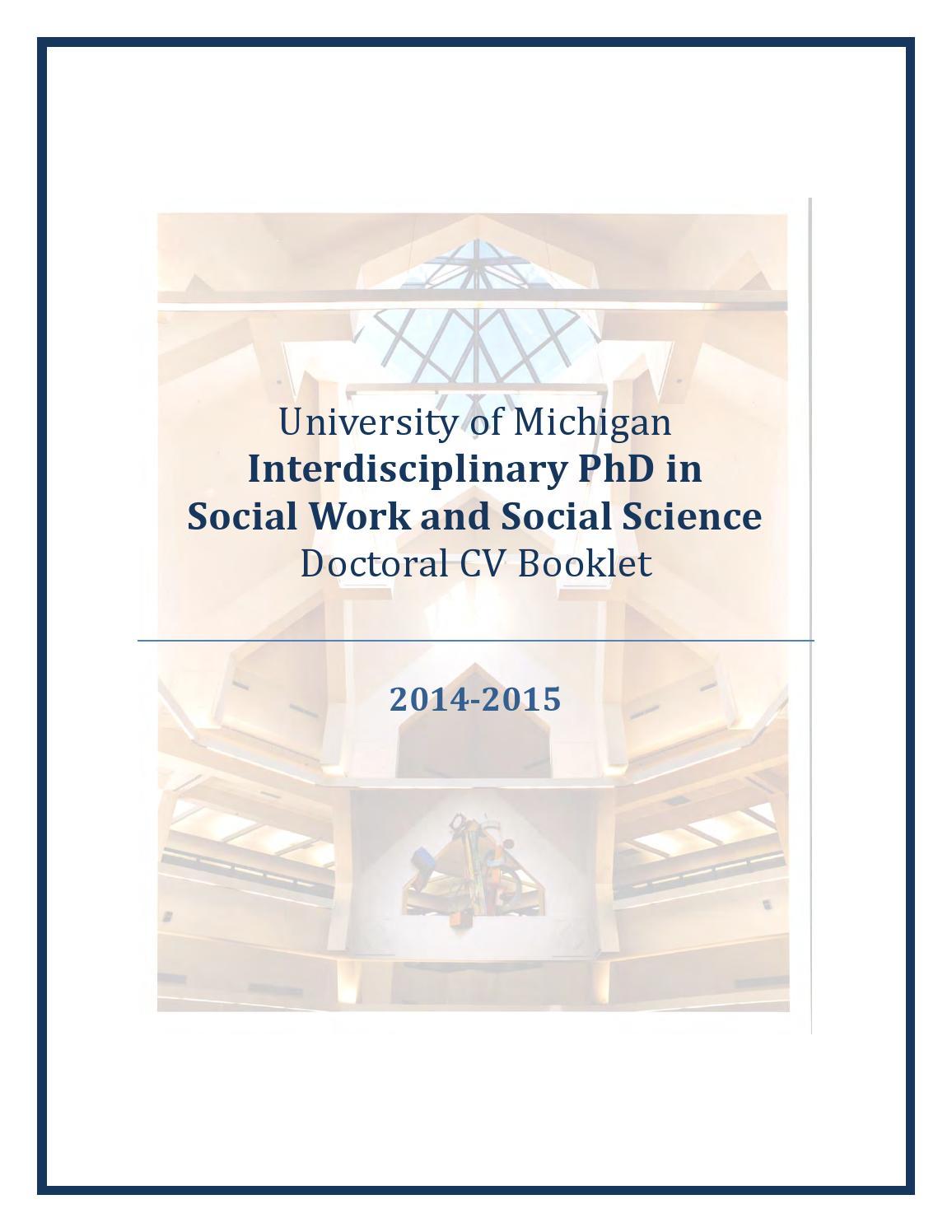 U-M Interdisciplinary PhD in Social Work and Social Science Doctoral ...