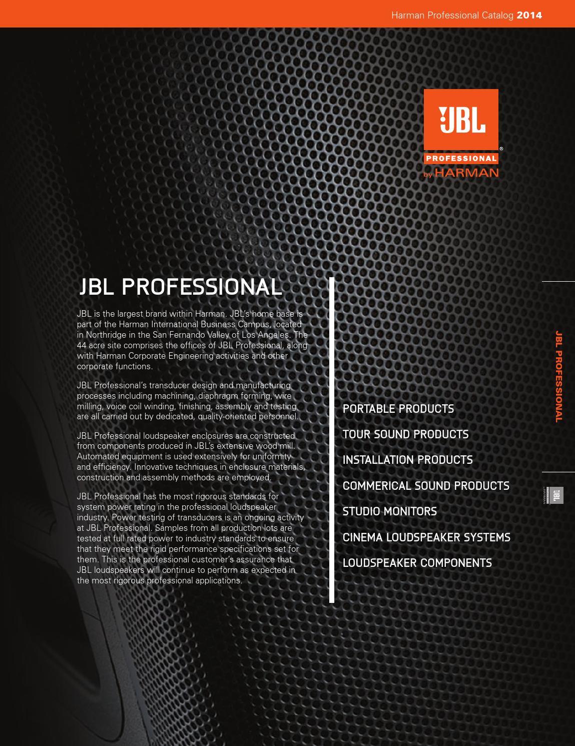 Jbl Full Catalog 2014 By Castilloarts Issuu Speaker Besides Srx Subwoofer Speakers On Wiring With