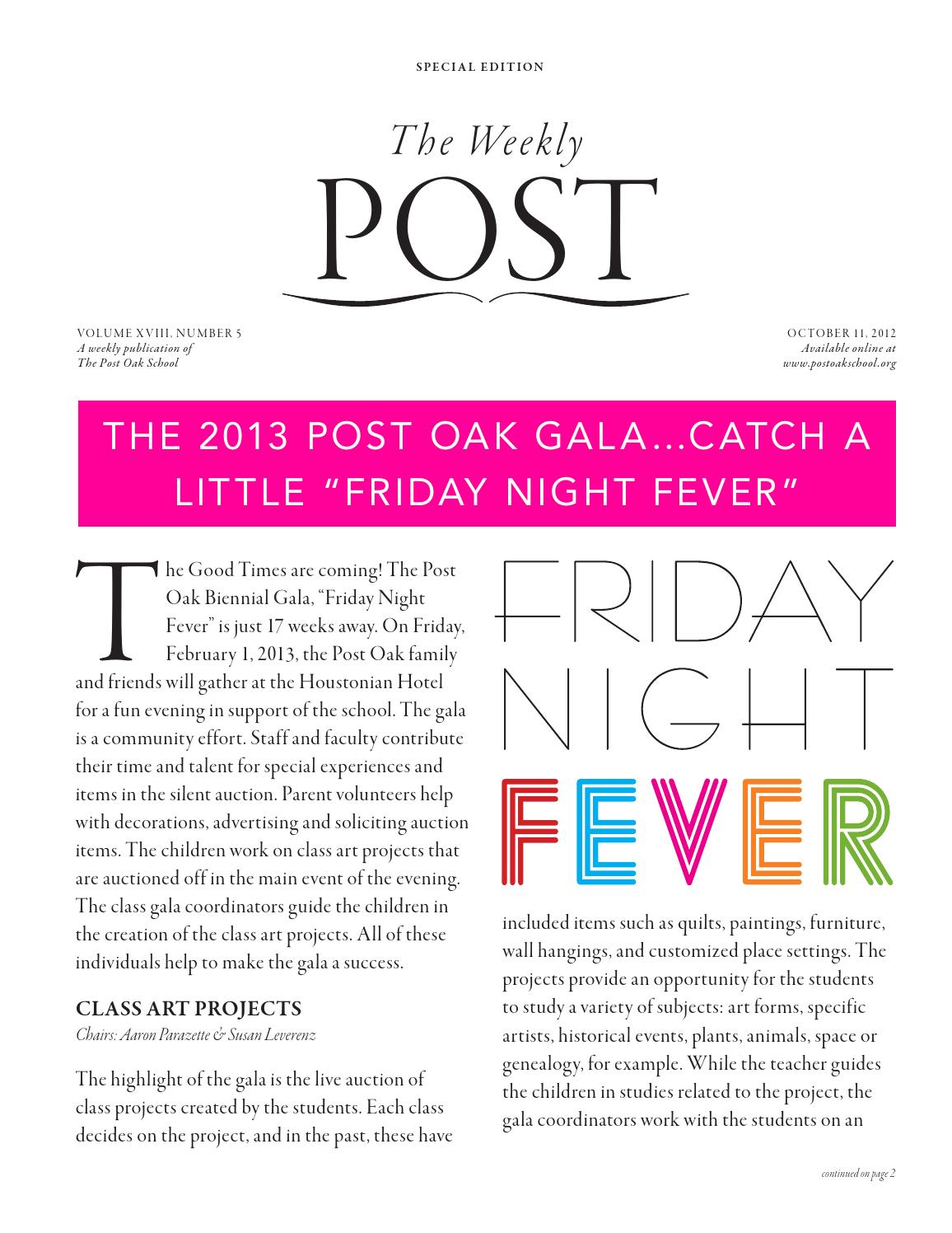 The Weekly Post, 10 11 2012 by The Post Oak School - issuu