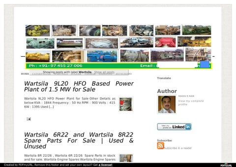 Wartsila marine diesel engines and marine generators for