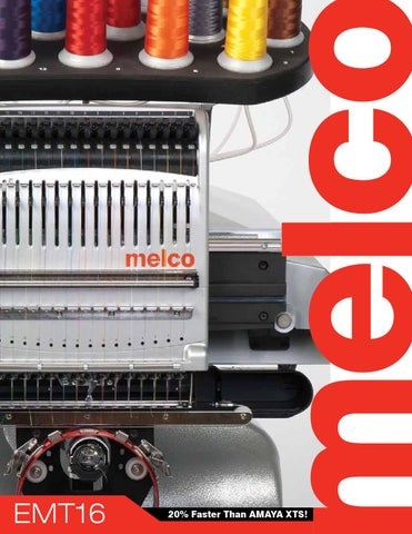 Melco Emt16 Embroidery Machine Brochure By Melco