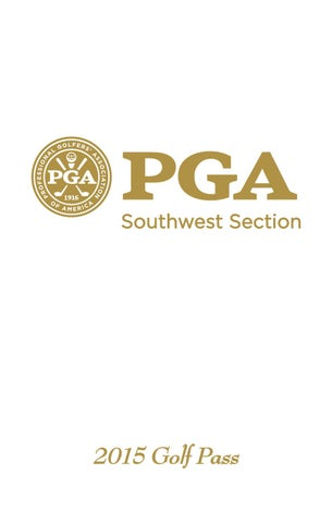 2015 SWSPGA Golf Pass Coupon Book by Southwest Section PGA ...