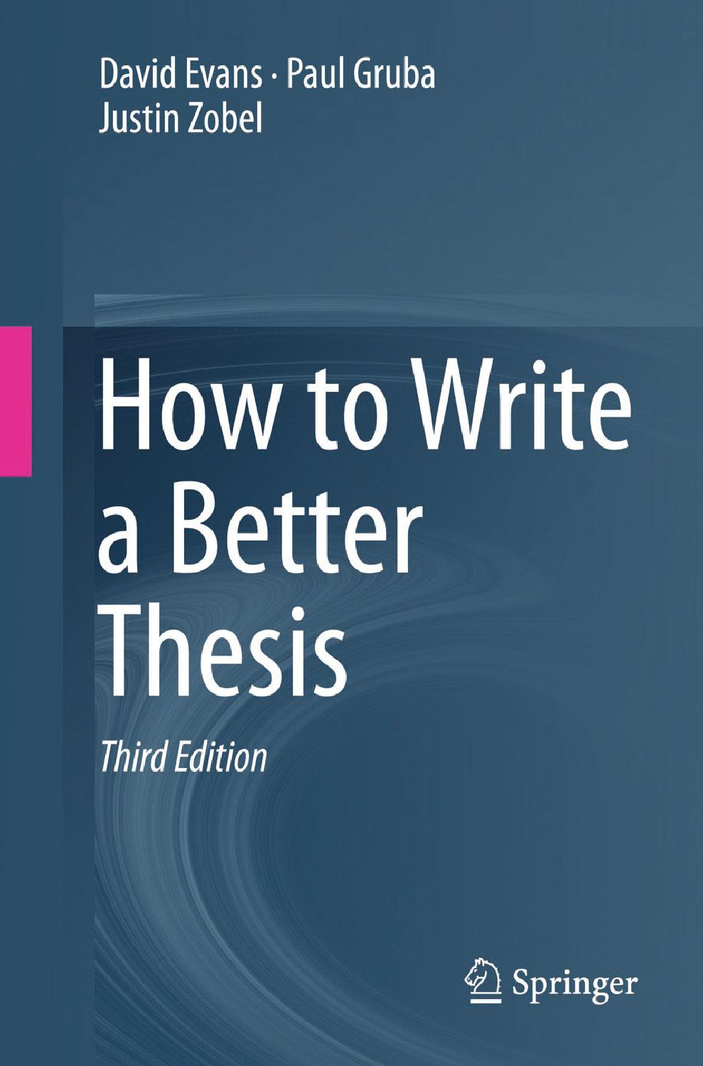 Thesis publishers london