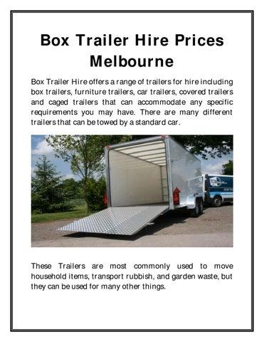 Melbournetrailerhire Box Trailer Hire Prices Melbourne By Melbourne
