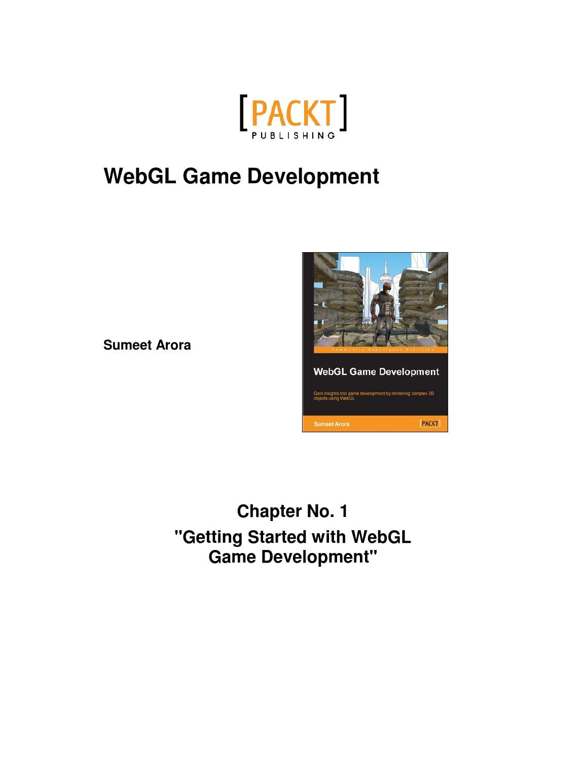Getting started with webgl game development chapter 01 by