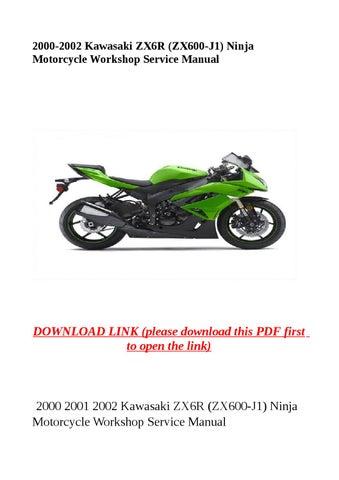 Service Manual Kawasaki Zx6r 2002 J10