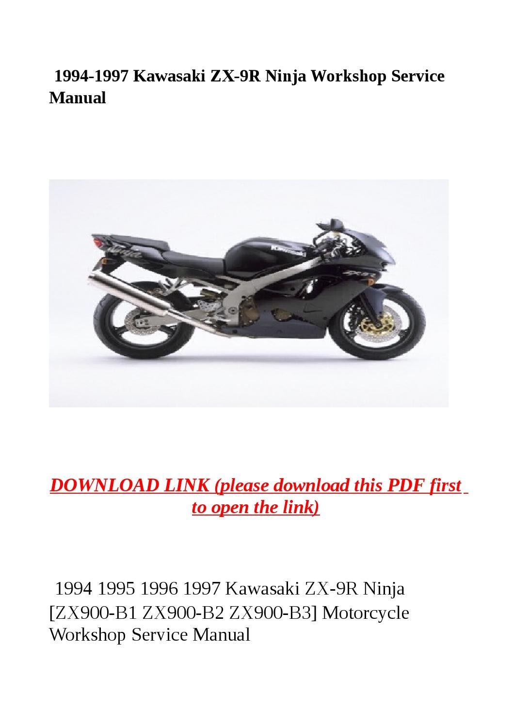 1994 1997 Kawasaki Zx 9r Ninja Workshop Service Manual By border=