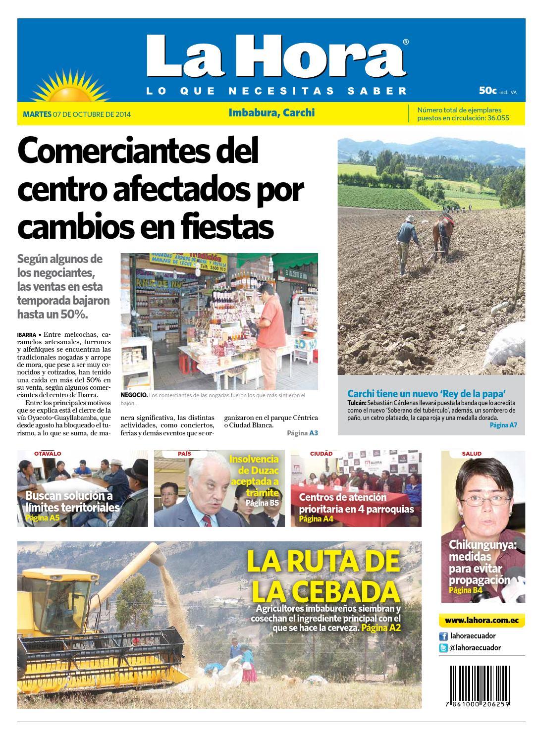 Imbabura 7 octubre 2014 by Diario La Hora Ecuador - issuu 74ac0cea397