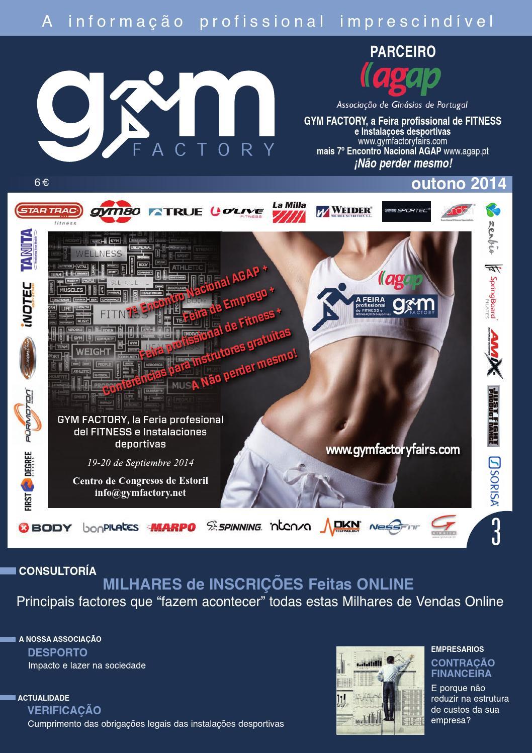 Gym Factory Gestão Nº3 Outono 2014 by Gym Factory Magazine - issuu ec260a85bec9e