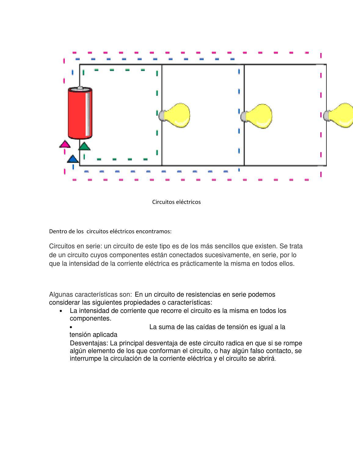 Circuito En Serie : Circuitos eléctricos en serie y paralelo by leonardo gabriel