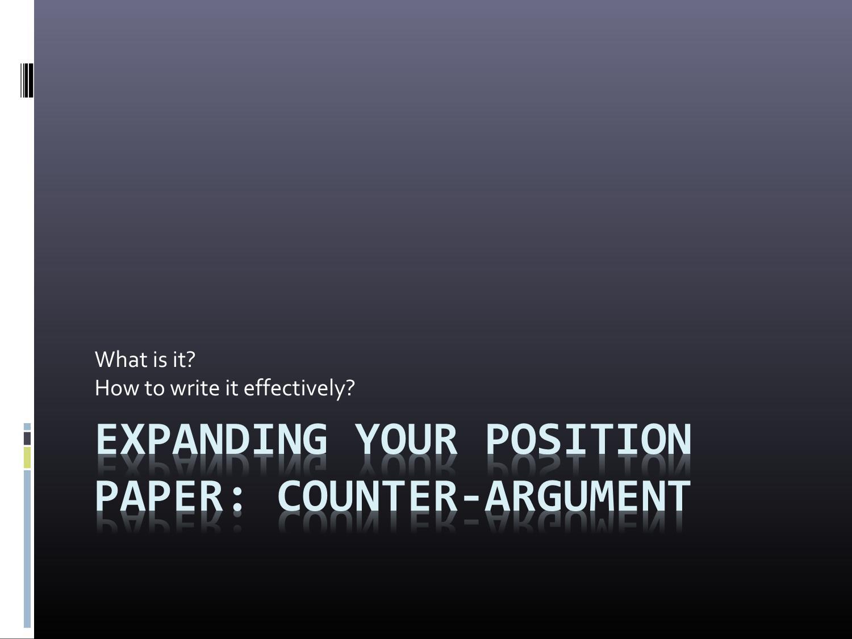 Counter argument   Presentation by Belen Fagundez   issuu