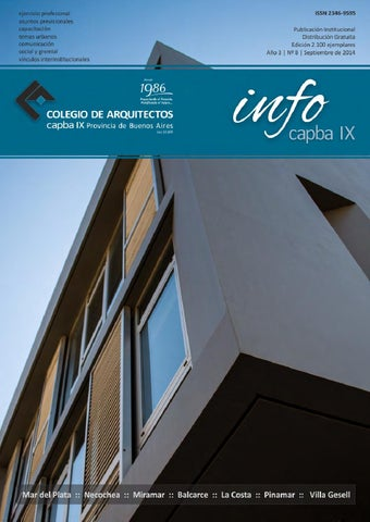 Infocapba Nº 8 By Colegio De Arquitectos De La Provincia De Buenos