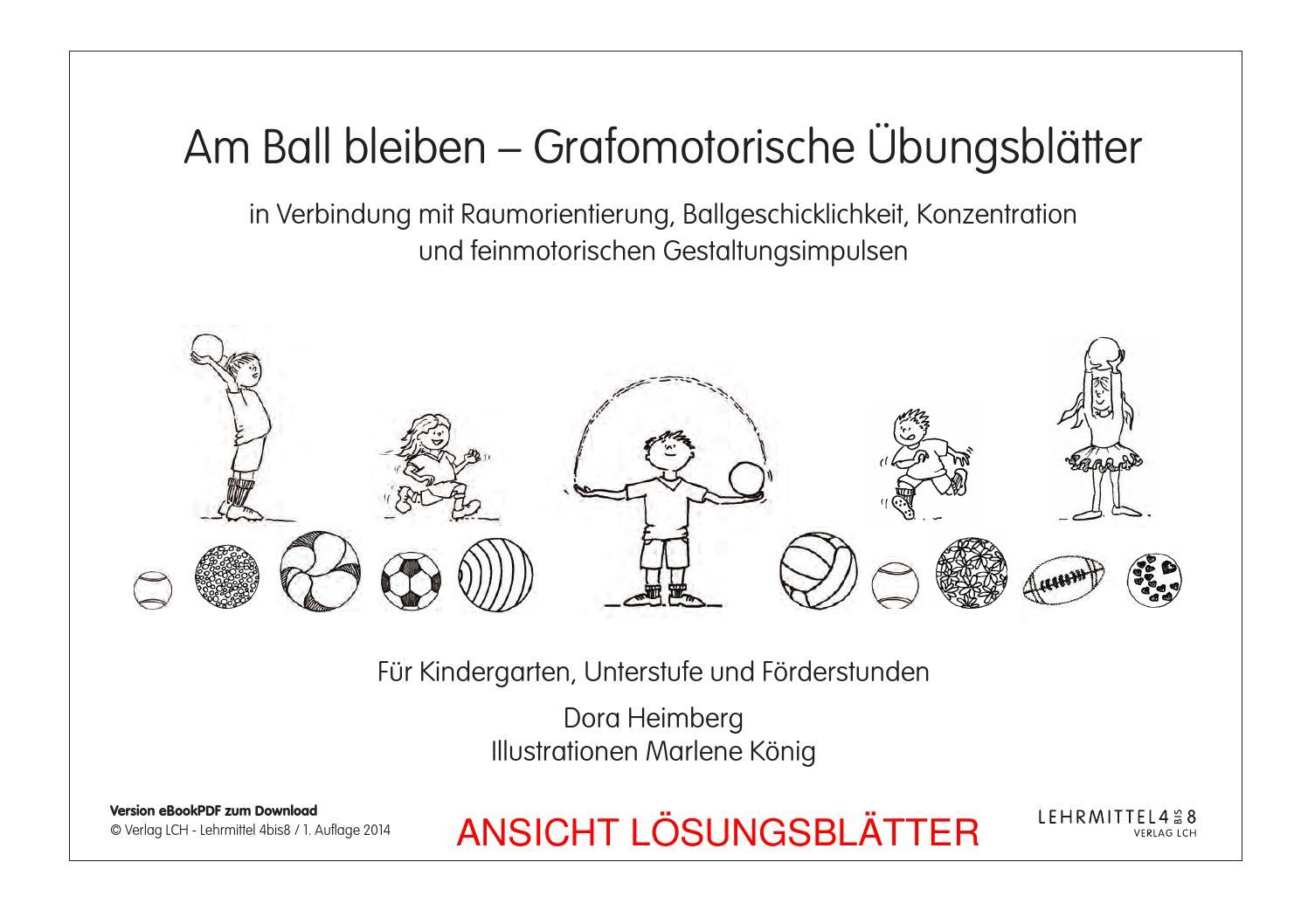 Am Ball bleiben – Grafomotorische Übungsblätter by lehrmittel 4bis8 ...