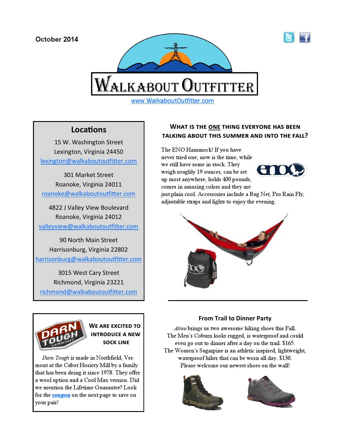 8ec5eb7a9c7 Walkabout Outfitter October Newsletter by Walkabout Outfitter - issuu
