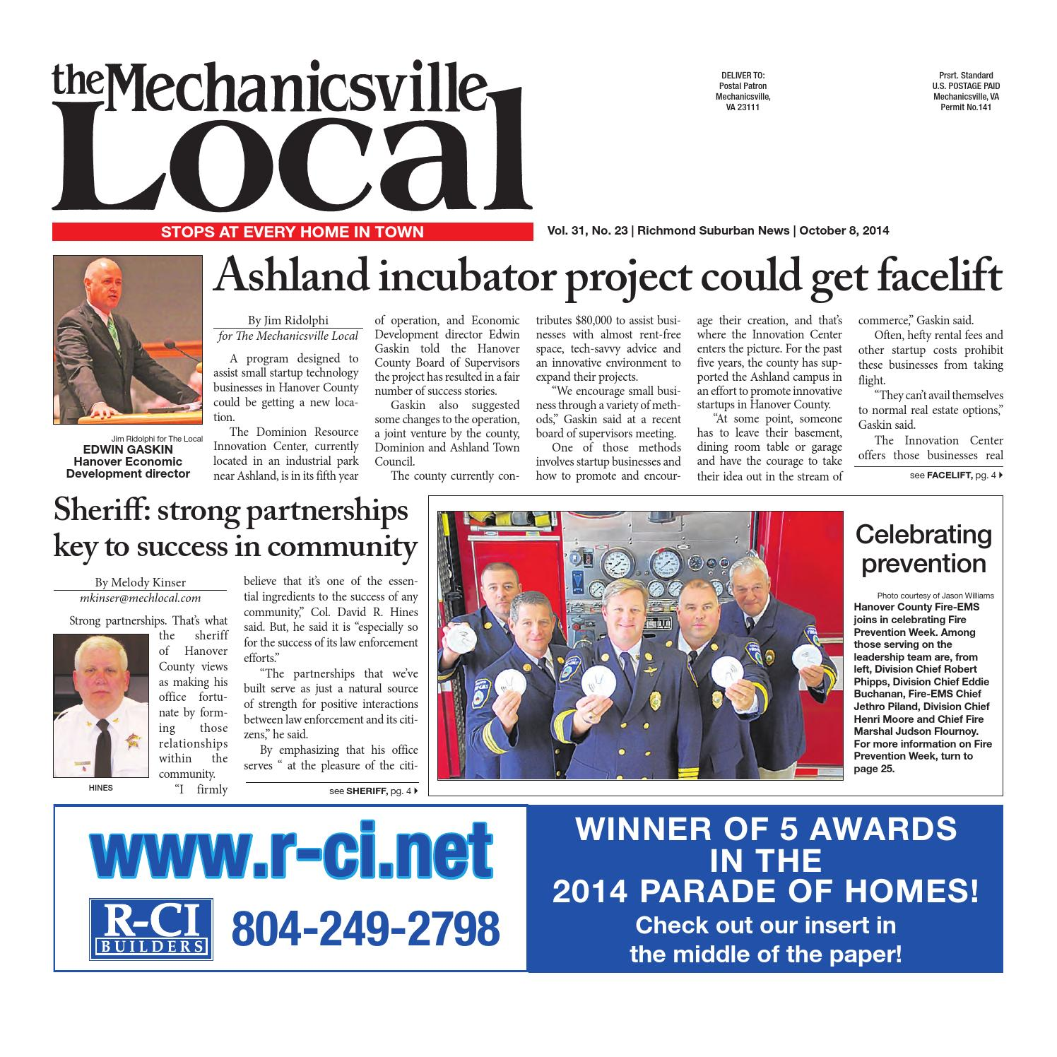 10/08/2014 by The Mechanicsville Local - issuu