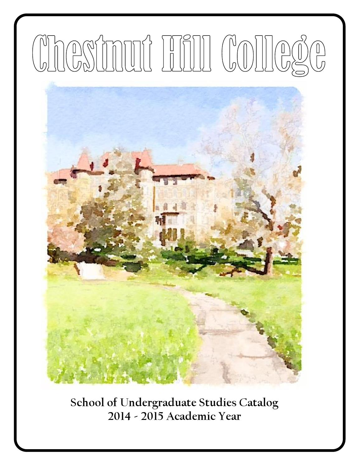 Chestnut Hill College SUS Catalog 2014-15 by CHC Accounts ...
