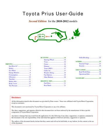 prius 30 prius user guide by tulga dashtseren issuu rh issuu com