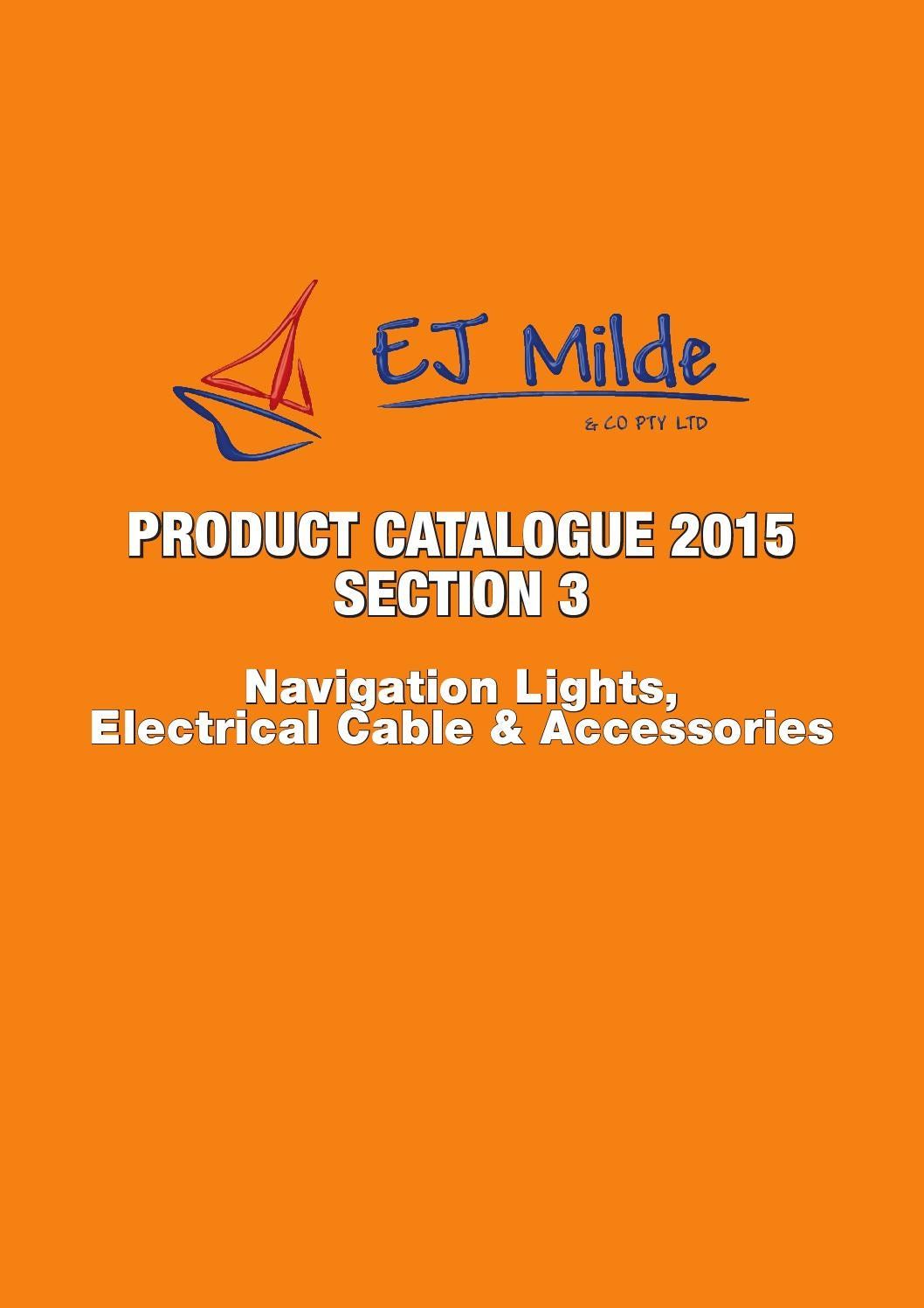 Ej Milde Product Catalogue 2015 Section 3 By Co Pty Ltd 30m X 5 Core Cable Wiring Wire Trailer Parts Lights Issuu