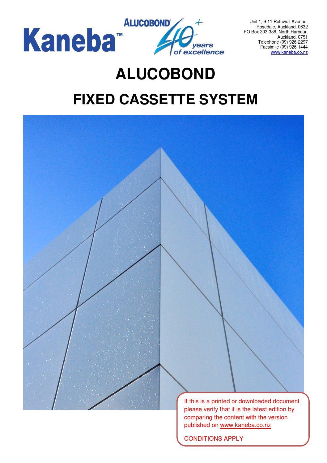 Dsm100 Alucobondfixedcassettesystemweb By Kaneba Issuu