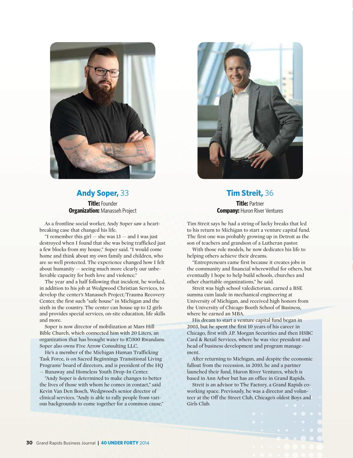 40 Under Forty - 2014 - Grand Rapids Business Journal by
