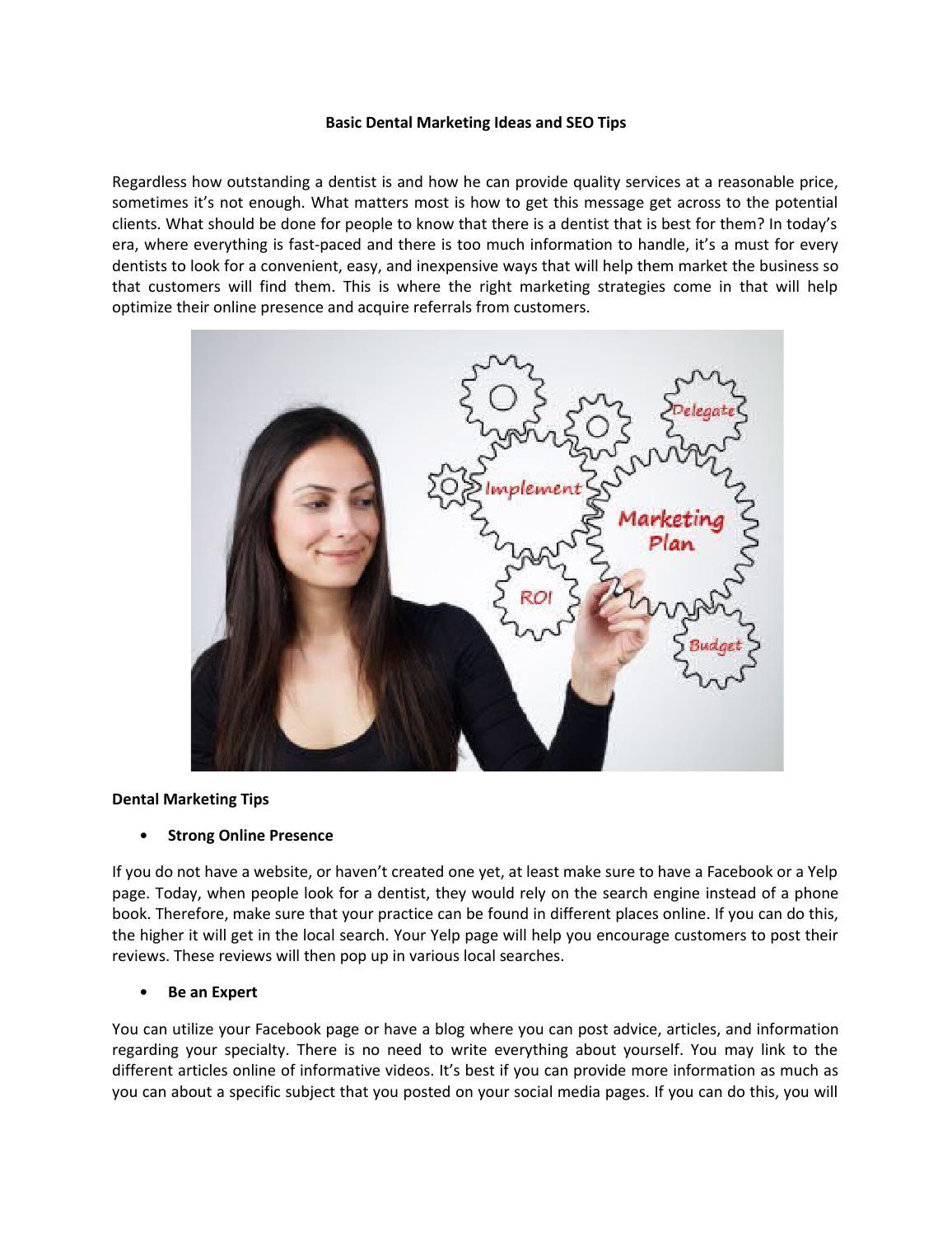 Basic dental marketing ideas and seo tips by GraceBryant - issuu
