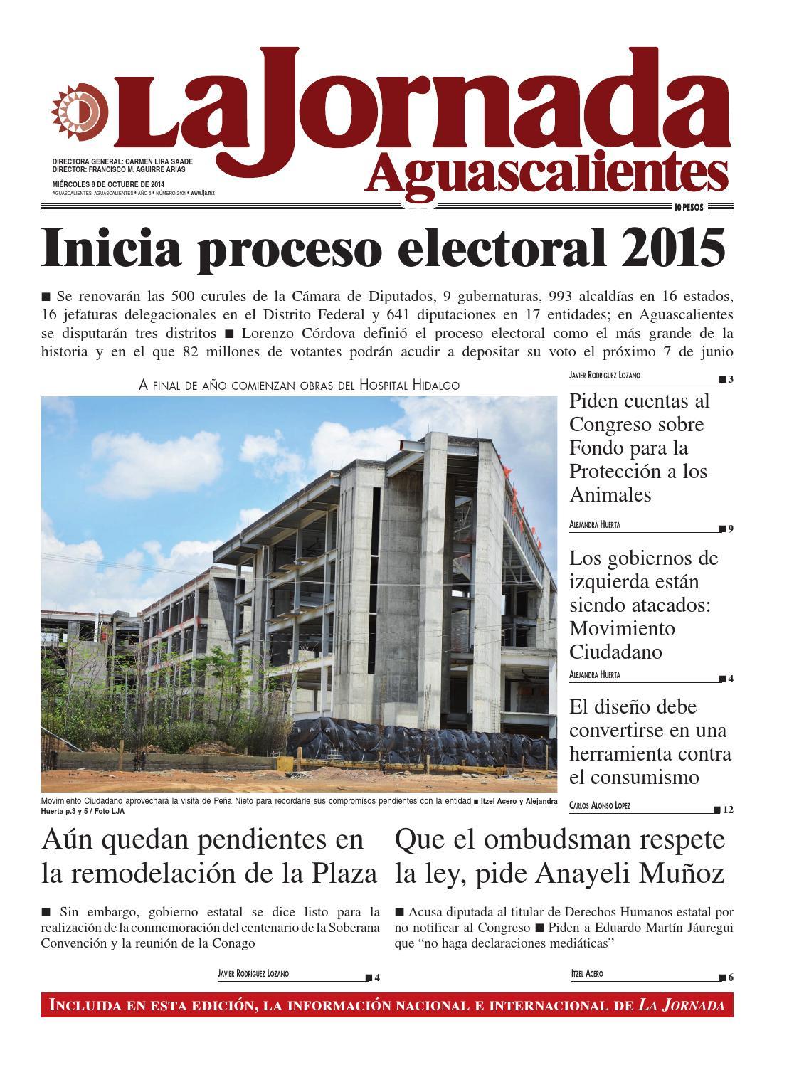 LJA08102014 by La Jornada Aguascalientes - issuu